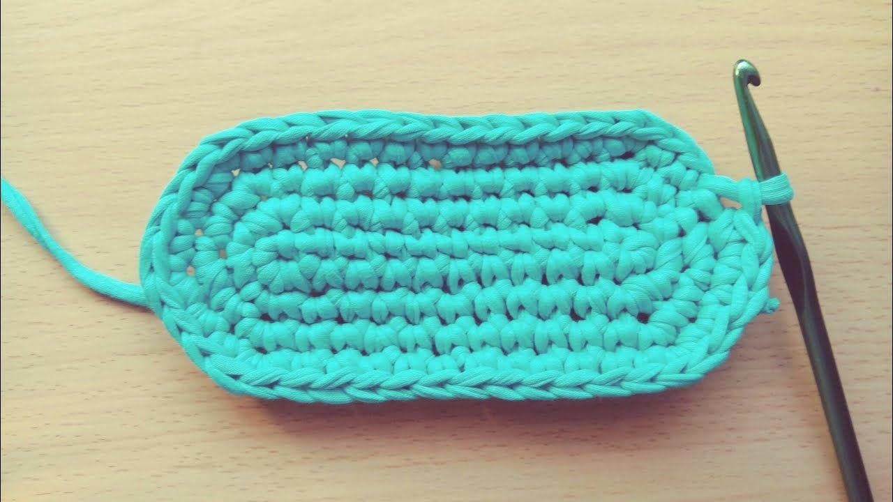 Crochet Oval Bag Base Tshirt Yarn Crochet Basket Pattern Crochet Bag Tutorials Crochet Bag Pattern