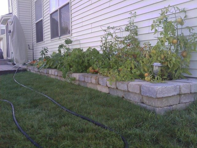 Raised Flower Bed Idea For The Backyard Against Garage Wall