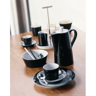 Arzberg Tric Dinnerware Collection in Office Black  sc 1 st  Pinterest & Arzberg Tric Dinnerware Collection in Office Black | Mi casa es tu ...