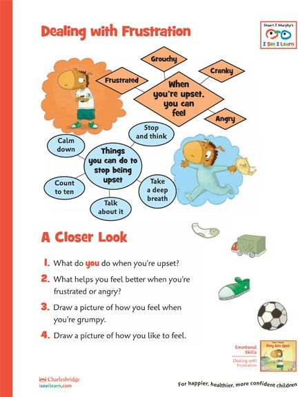 Dealing with Frustration worksheet for kids. | Behavior | Pinterest ...
