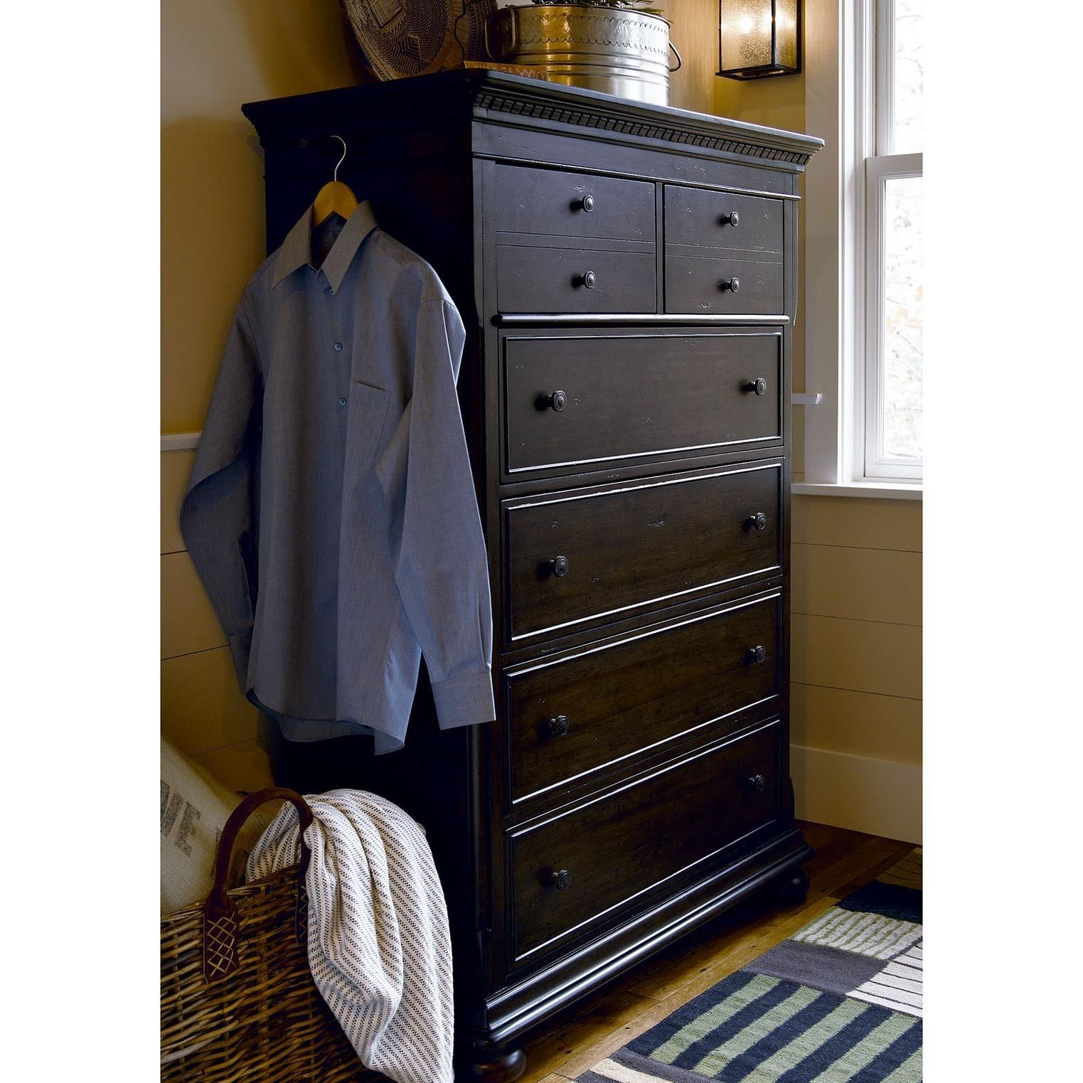 paula deen down home drawer chest in molasses dresser brown size