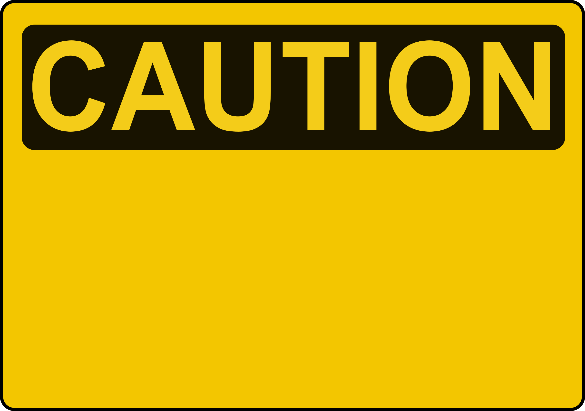 Caution Sign Template By Rones Caution Sign Template On