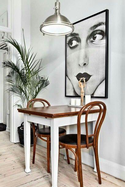 Ein kleiner Tisch in der Küche wirkt Wunder Cocina Pinterest - kleiner tisch küche