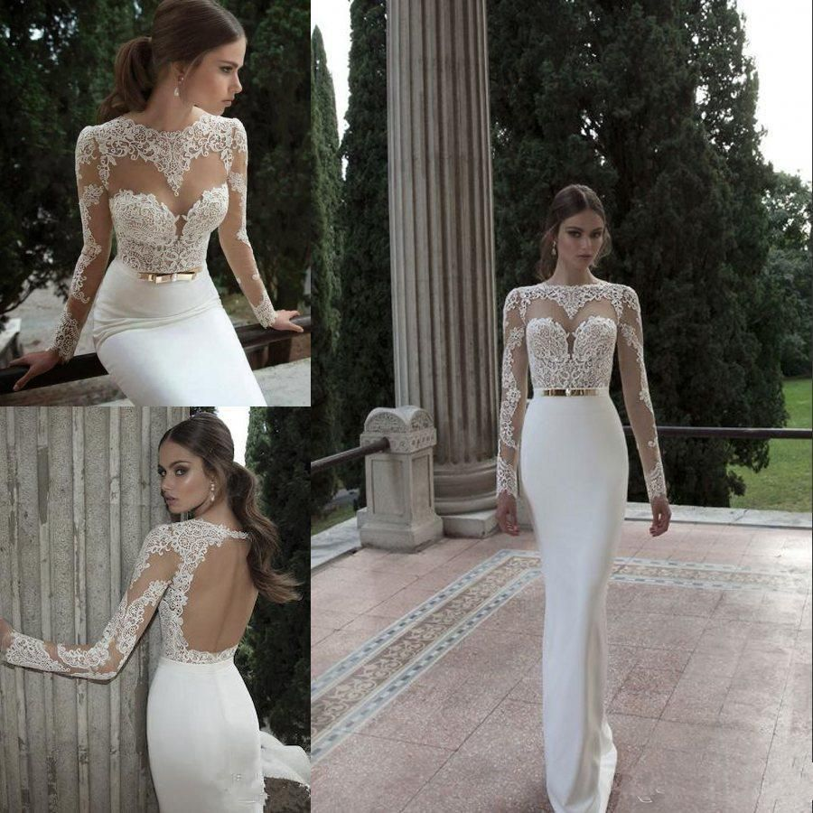 Cheap emmani vestido de noiva berta bridal mermaid wedding