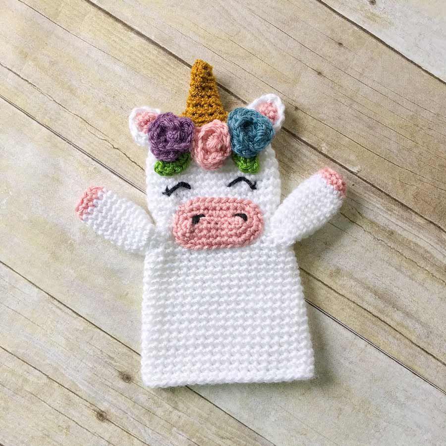 Títere unicornio | Foto para wasap | Pinterest | Tejidos y Proyectos