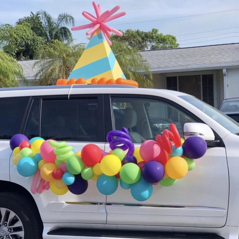 Oversized Party Hat Car Prop Digital Template Kids Party Inspiration Party Hats Parade Float Decorations