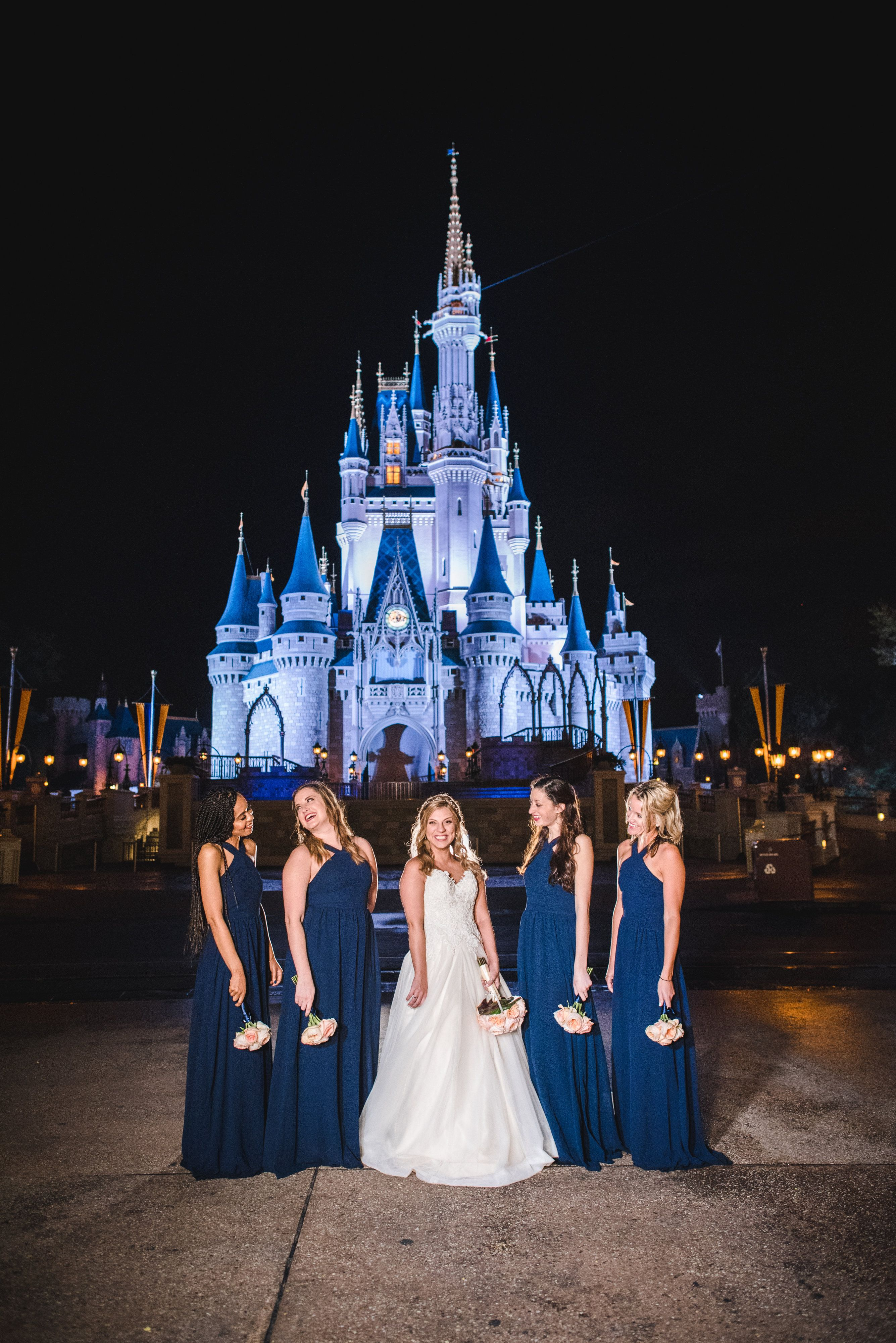 Bridesmaids Magic Kingdom Wedding Disney Wedding Disney World Wedding Disney Wedding Disney Wedding Theme