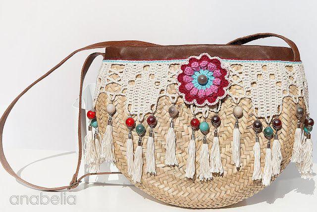 estilo bohemio bolsa de ganchillo verano por Anabelia Craft Diseño