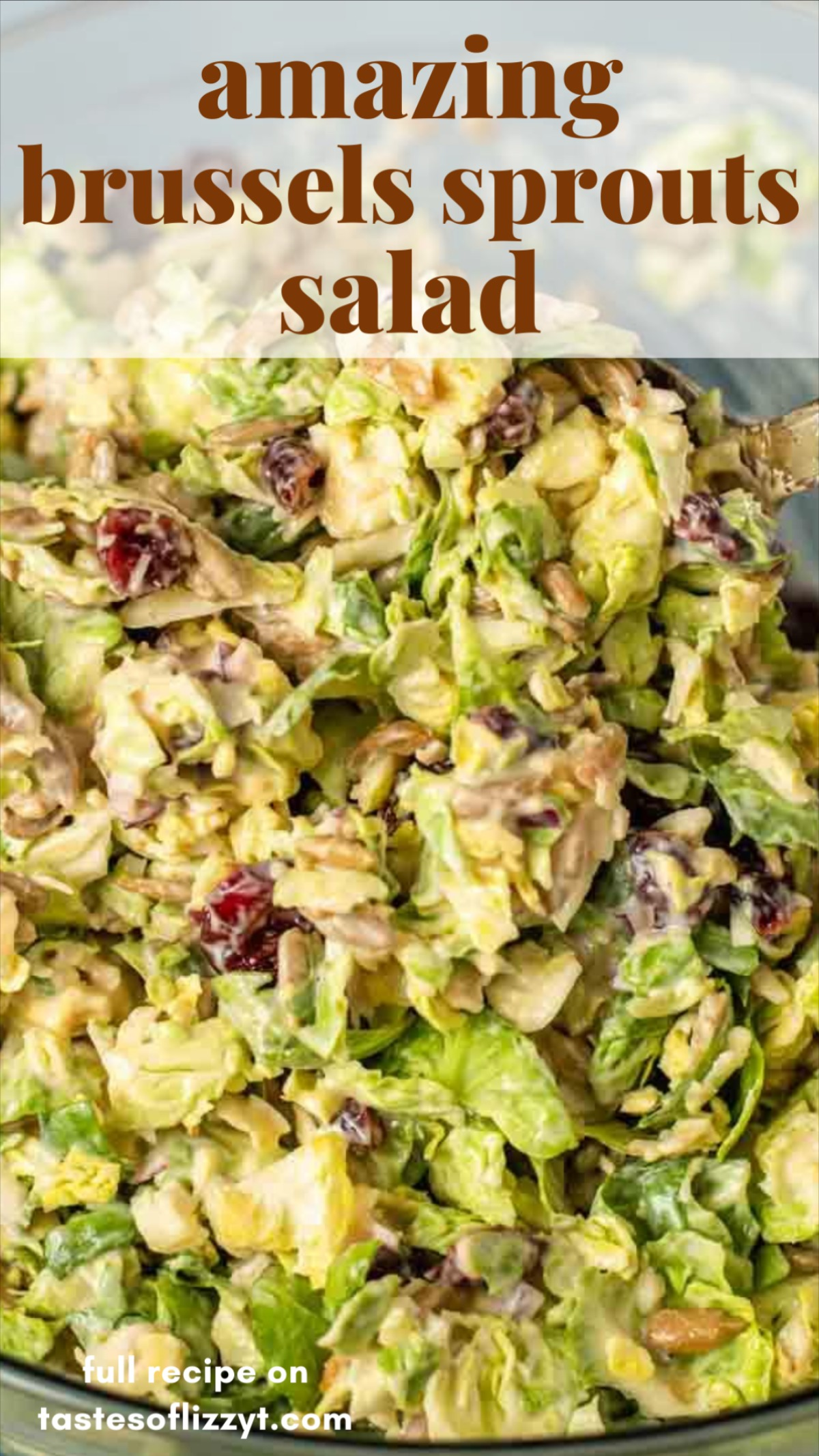 Amazing Loaded Brussels Sprouts Salad