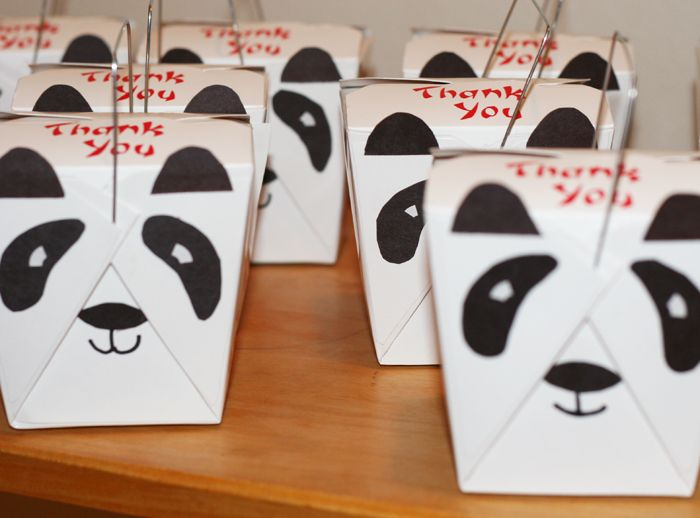 Panda party favor...blue boxes | My bday ideas | Pinterest | Panda ...