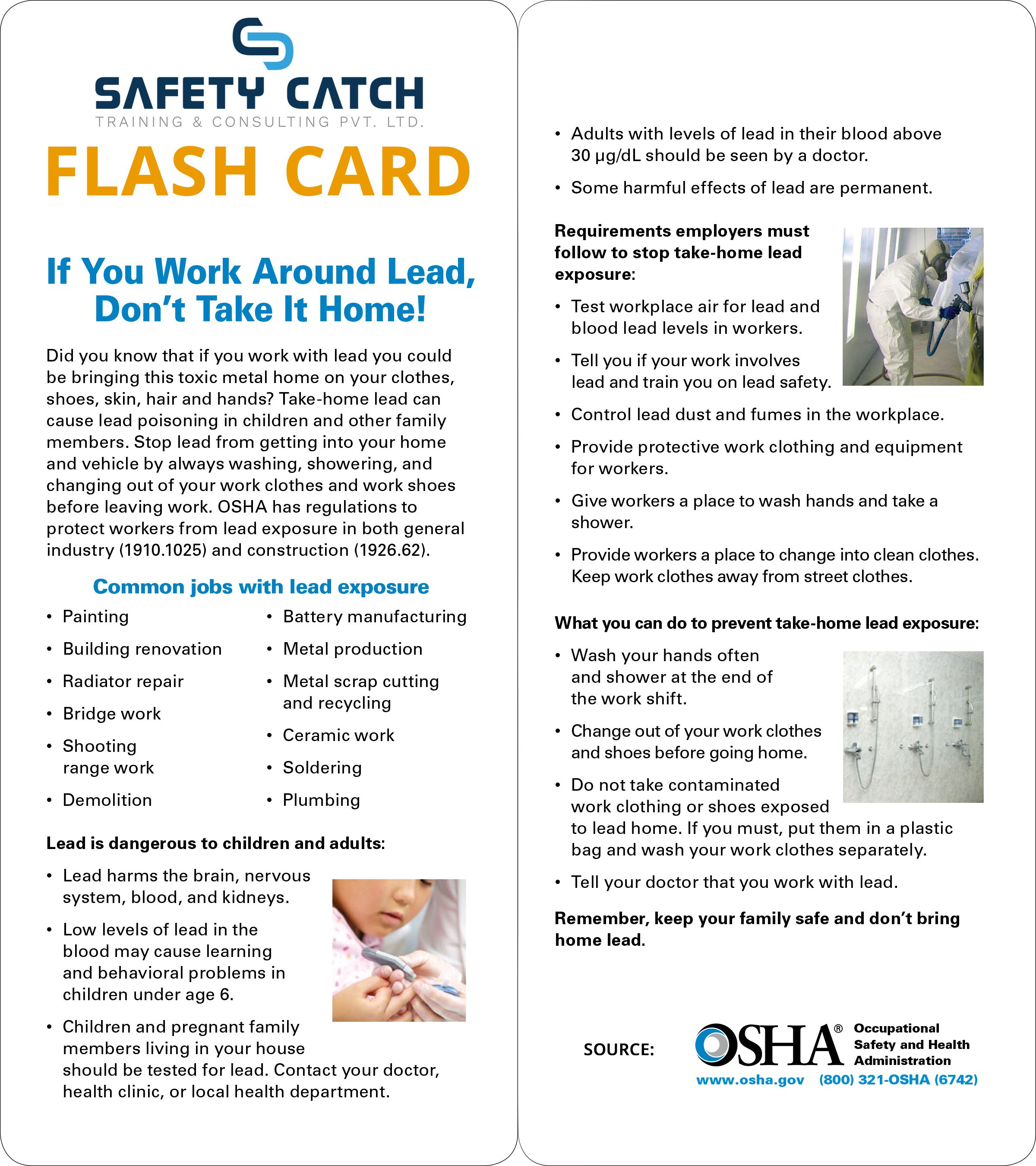 If You Work Around Lead Make Sure That You Are Aware Of These Osha Safety Guidelines In 2020 Flashcards Exam Papers Train