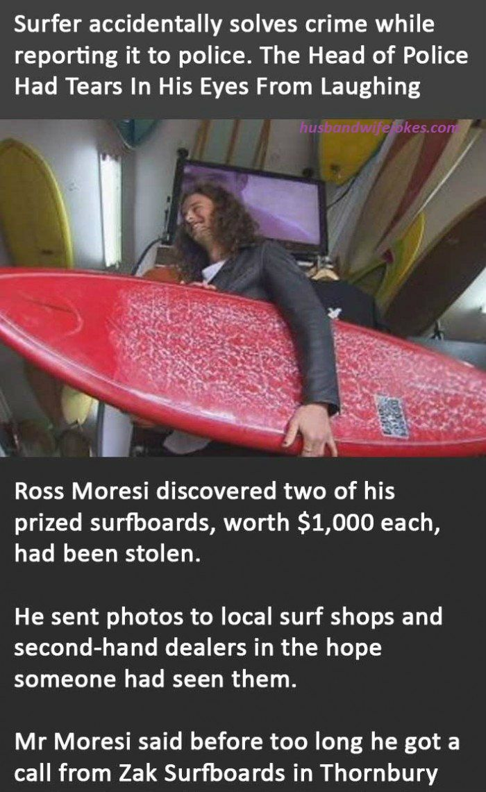 Surfer Accidentally Solves Crime While Reporting It To