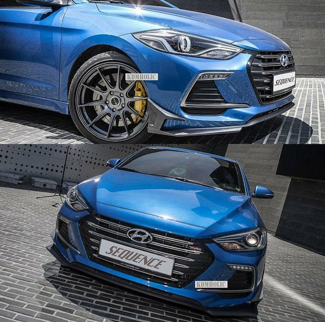 Cars Tuning Music: Hyundai Elantra Sport by Sequence-x Garage SPEC-S
