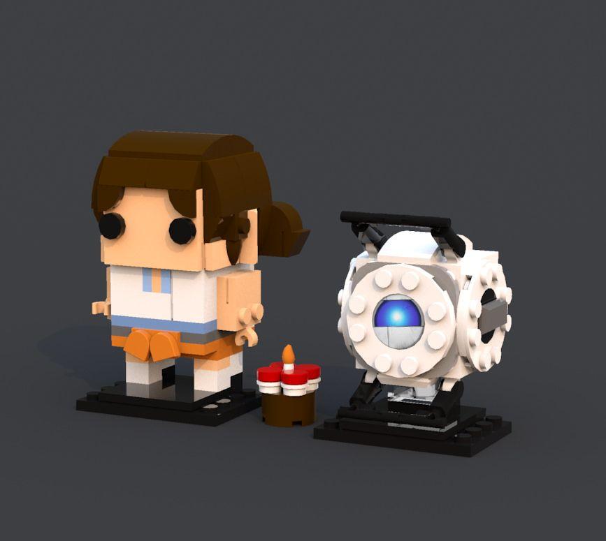 Bh 6 Chell Wheatley Portal Portal Wheatley Lego