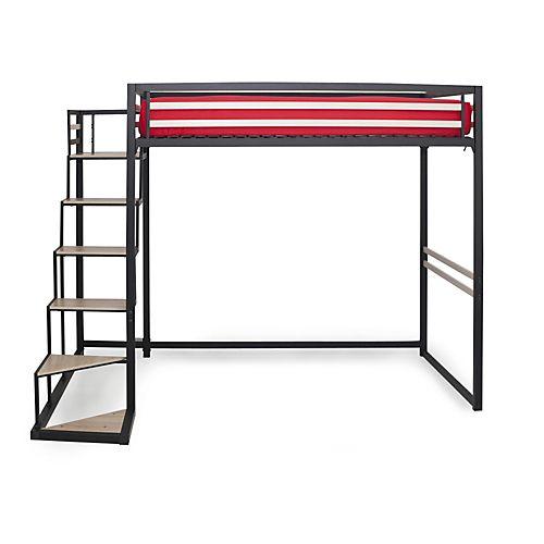 lit mezzanine sylvia escalier de mezzanine en tiroir with lit mezzanine sylvia photos de. Black Bedroom Furniture Sets. Home Design Ideas