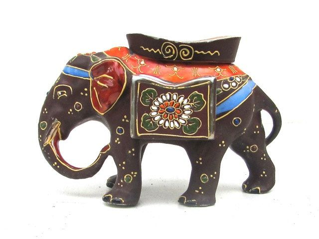 Vintage Chocolate Elephant Porcelain Matchbox by BellaLaineVintage, $28.00