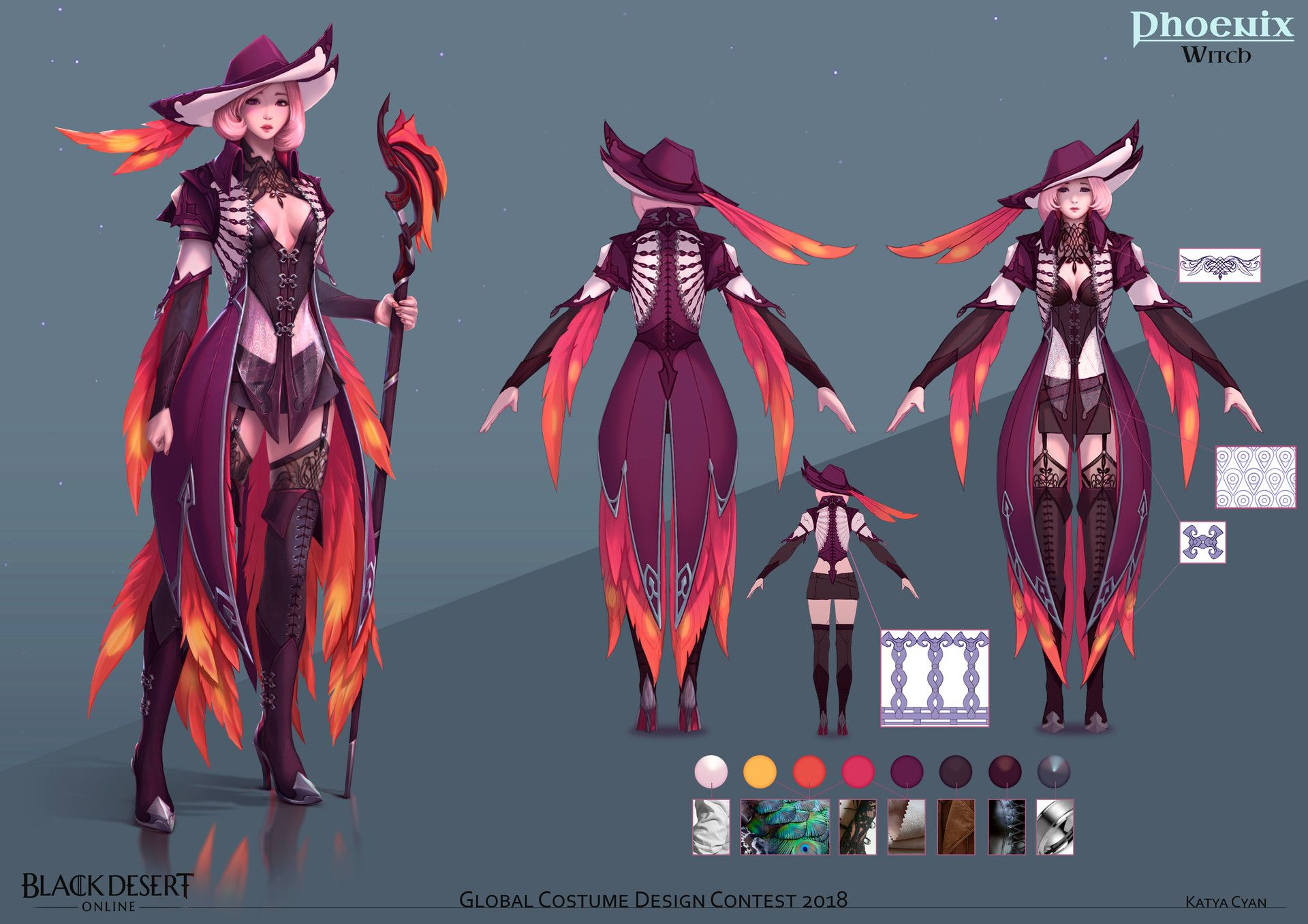 Phoenix Witch By Katya Cyan Imaginary Characters Artwork Of Heroes Villains And Champions Witch Costume Design Villain Costumes