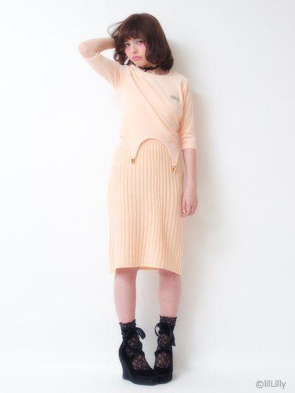 リブタイトスカート(タイトスカート) lilLilly(リルリリー) ファッション通販 - ファッションウォーカー