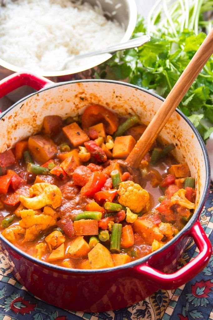 Sweet Potato and Vegetable Vindaloo | Indian food recipes ...