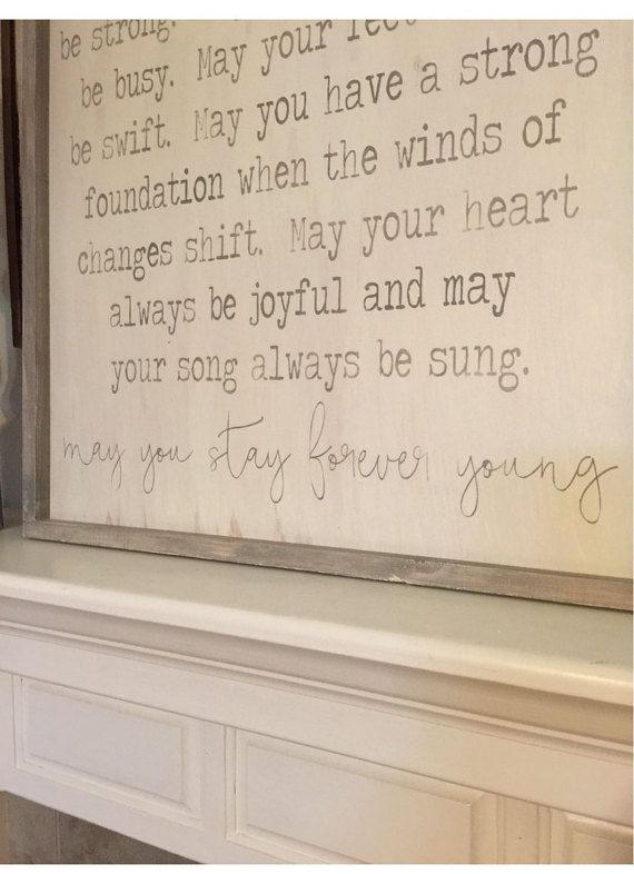 Forever Young 24x48 Custom Handcrafted Framed Wood Sign Wood