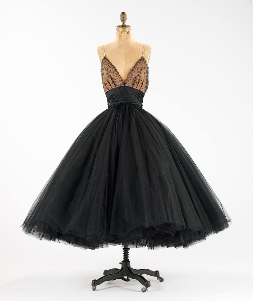 1950s silk evening dress
