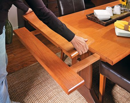 Slide Out Trestle Table Woodsmith Plans New Cabin Furniture