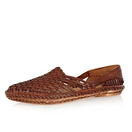 Mens woven loafers, Mens slip on shoes