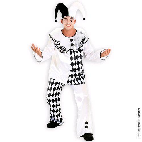 ac47c1a71cbe57 Fantasia Pierrot Adulto Masculino Sulamericana | Festas | Fantasias ...
