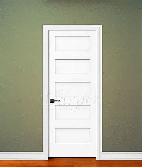 5 panel flat door conmore from craftmaster darpet for Flat solid wood door