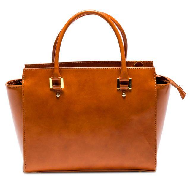 Sac en cuir It Bags, cliquez sur l'image pour shopper #bazarchic #cuir #leather #sac #bag #cognac #camel #marron #fashion #mode