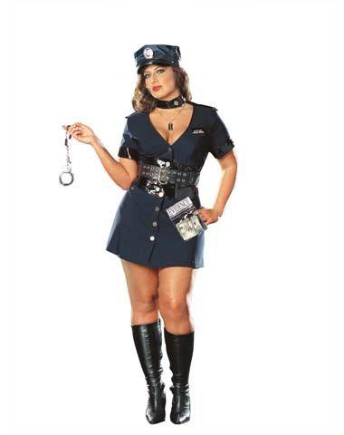 Corrupt Cop Adult Womens Plus Size Costume Costume Ideas - halloween costume ideas plus size