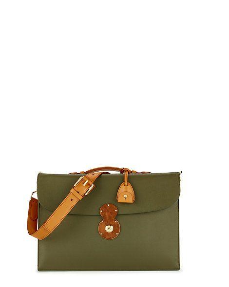 Cooper-Lock Calfskin Briefcase - Briefcases & Folios  Bags & Business Accessories - RalphLauren.com  #Fashion