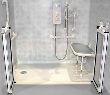 Roll-in shower, shower seat, and grab bars! | Destinee~specials ...