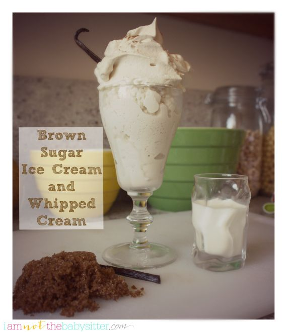 Brown Sugar Whipped Cream Recipe And Homemade Ice Made In A Bag