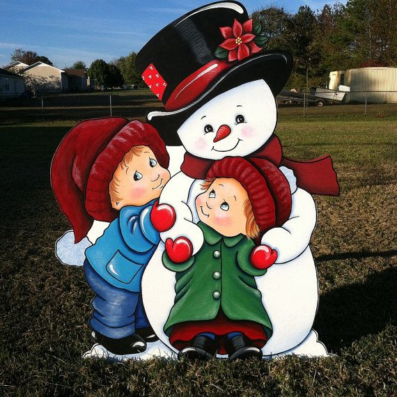 Snowman Hug by HuttonFoxArt on Etsy Outdoor Christmas Lights