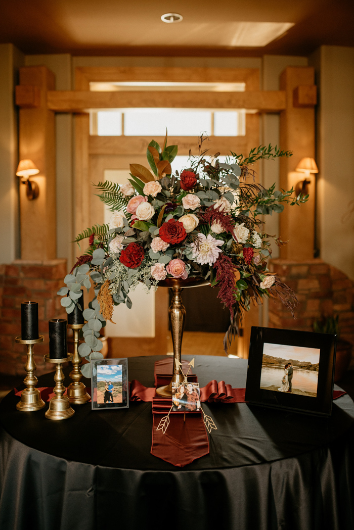 Burgundy, Black, and Champagne Wedding at Sedona Golf Resort