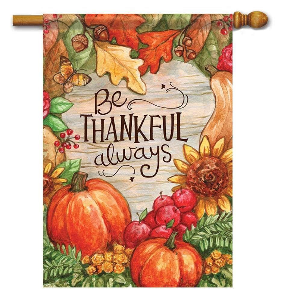 Thankful Always House Flag Autumn Art Fall Drawings Autumn Painting