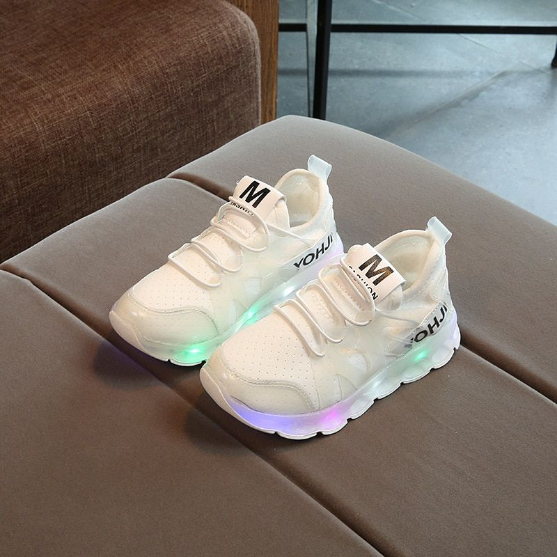 online retailer de31d dc918 2017 Fashion Kids LED Glowing Sneakers Toddler Spring ...