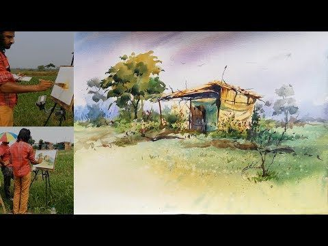Watercolor Painting Tutorial For Beginners How To Paint A Plein