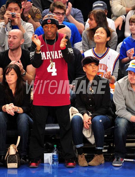 buy popular 135be acbde Celebrity Feet: Spike Lee Wears Foamposites & Jeremy Lin ...