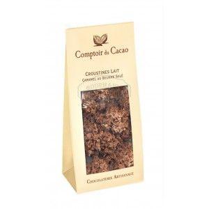 Croustines Lait Caramel Au Beurre Sale Comptoir Du Cacao 100g Www Gourmandsdantan Fr Cacao Caramel Au Beurre Sale Orange Confit