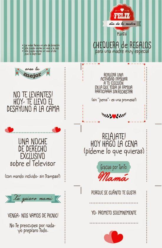 imprimible gratis día de la madre | ideas chulaaas | Pinterest | Mars