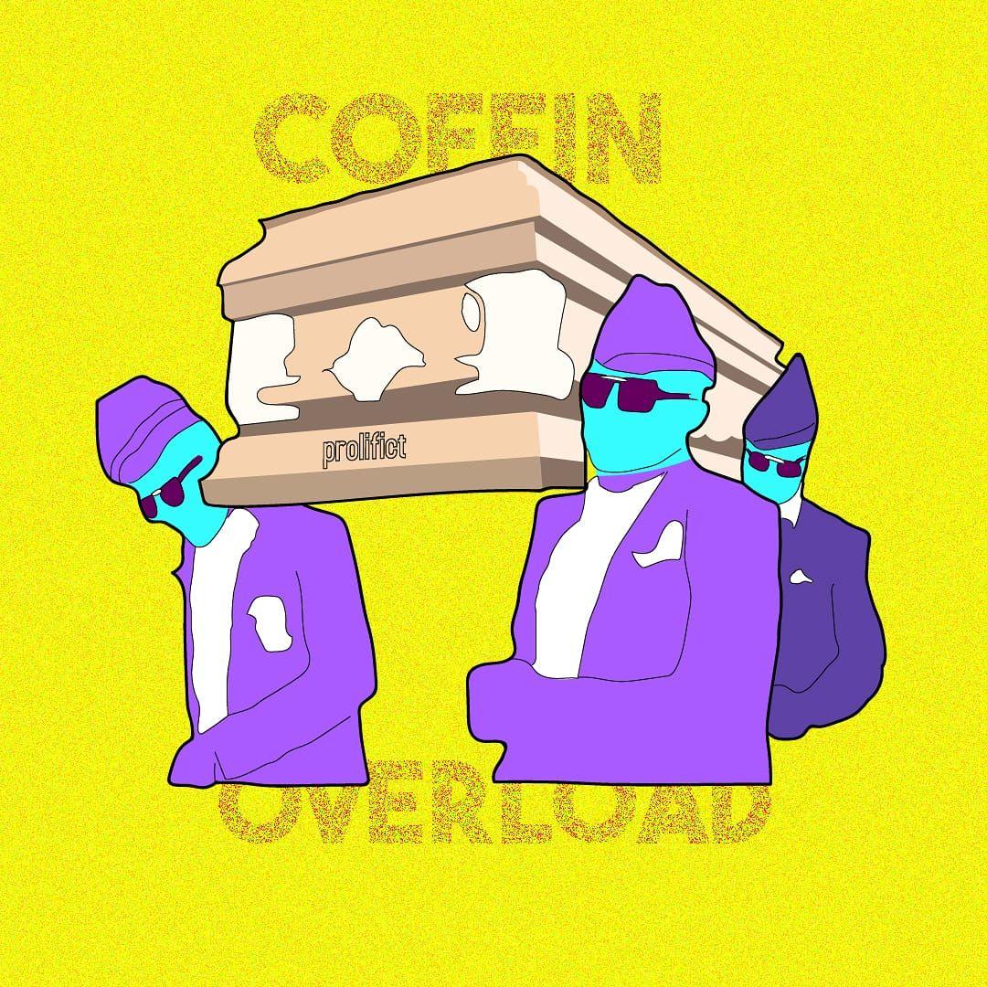 My take on the coffin guys meme logo designer graphic