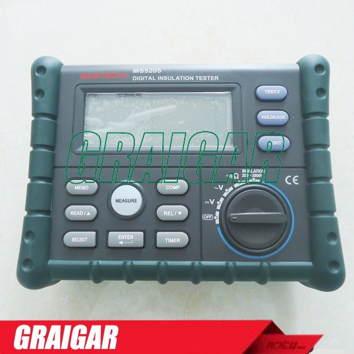 (149.00$)  Buy here  - New MS5205 Digital Insulation Tester Megger MegOhm Meter DC250/500/1000/2500V AC750V