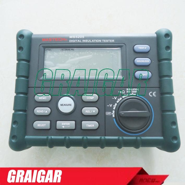 (149.00$)  Buy here  - New MS5205 Digital Insulation Tester Megger MegOhm Meter DC250/500/1000/2500V AC750V