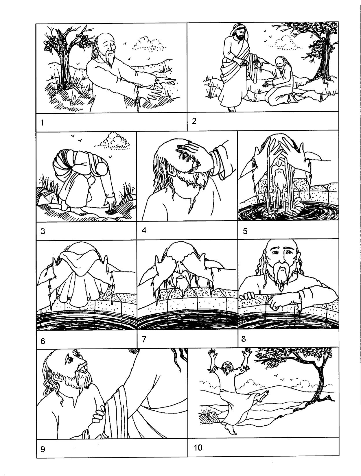 Jesus heals man BLIND FROM BIRTH. This a a coloring page that can ...