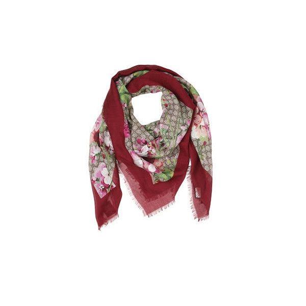 GG Supreme Blooms scarf - Red Gucci GNr7lI0Xiv