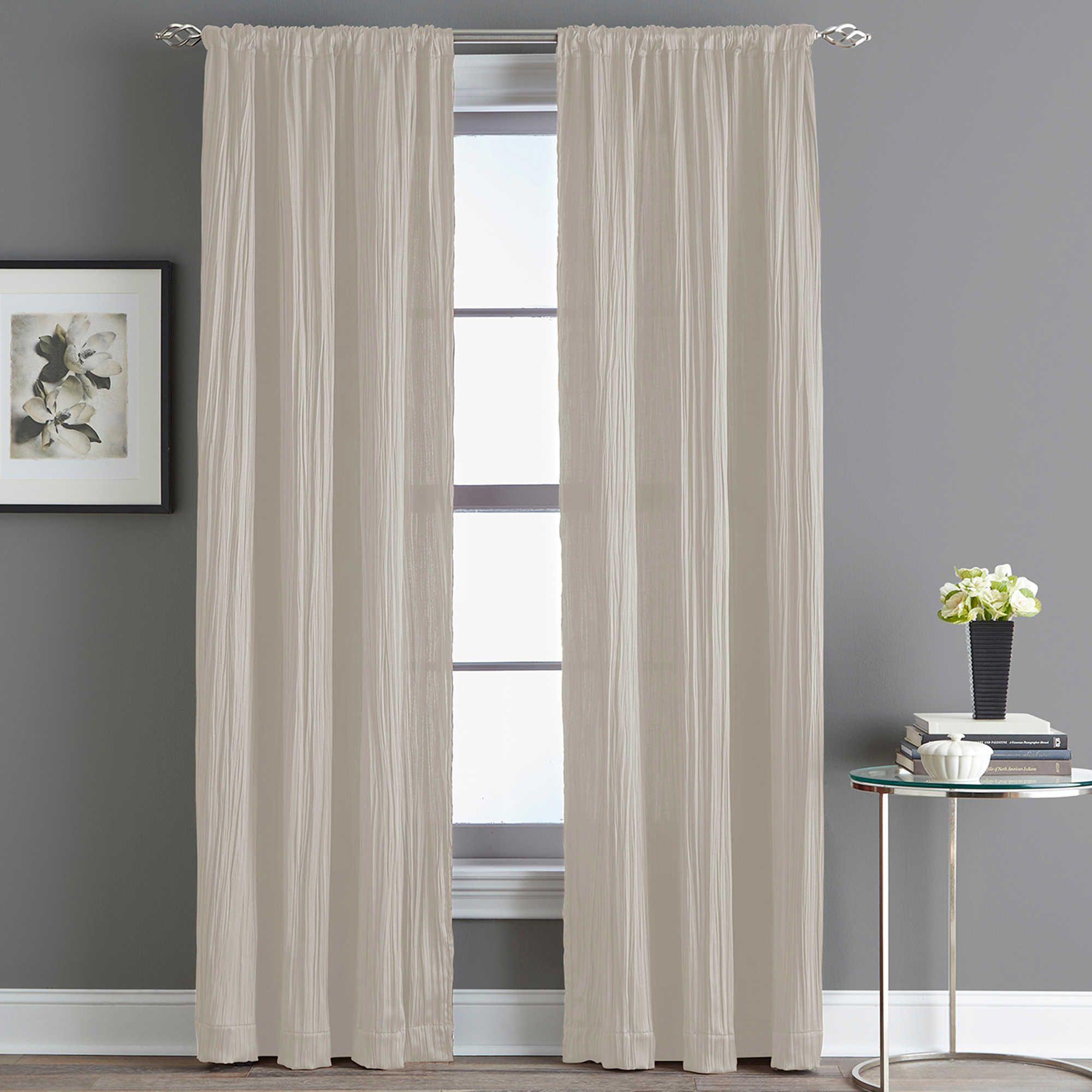 Fortuna Room Darkening Rod Pocket 63 Inch Window Curtain Panel In