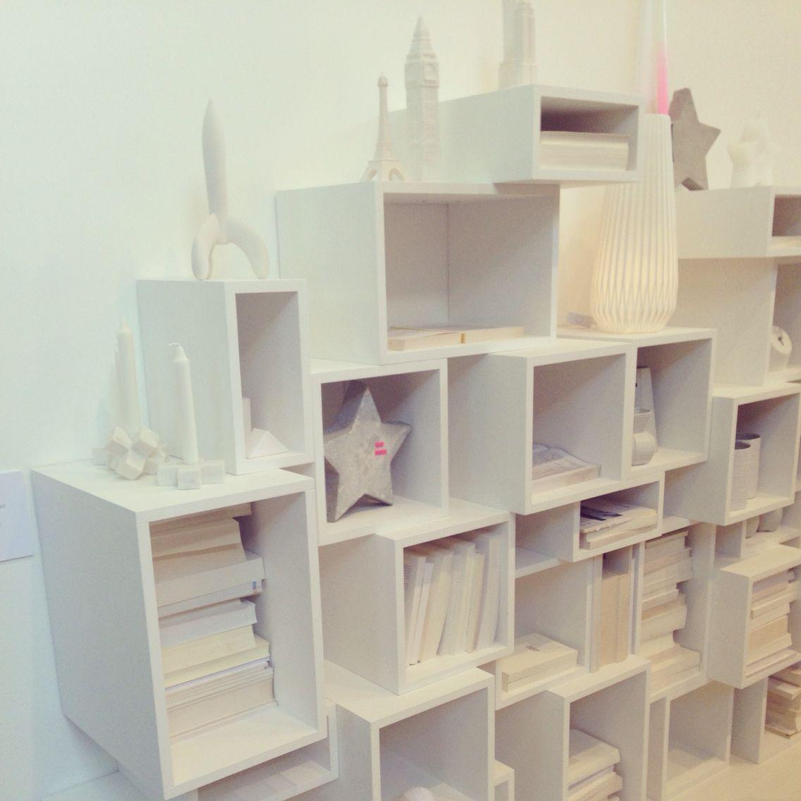 Witte open vakkenkast, Woonbeurs Amsterdam 2014