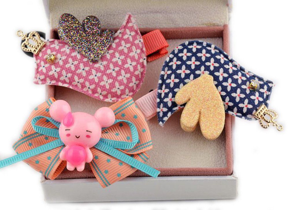 Toptheway 10ct Random Cute Girls Kids Hat Hair Clips Lovely Bow Hair Barrettes -- See this great product.